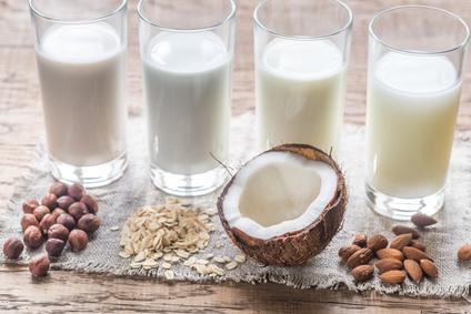 Verschiedene Typen veganer Milch