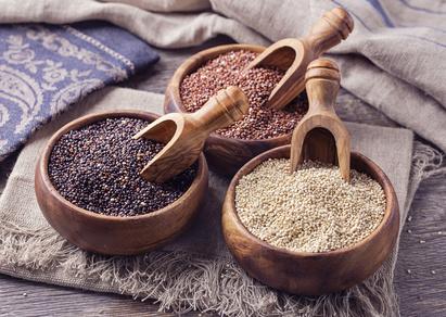 Quinoa (rot, schwarz, weiß)