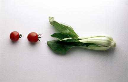 Pak Choi mit Tomaten